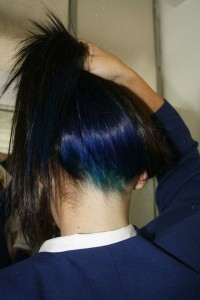 -original en color por debajo del pelo