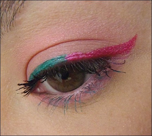 mint-water-maquillage-eyeline-rose-vert-mascara