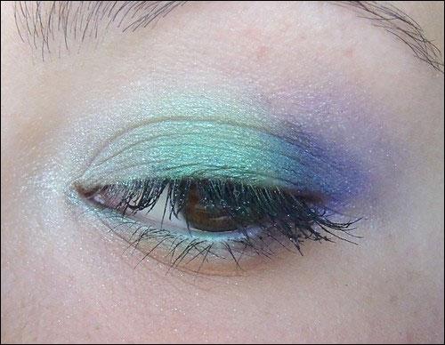 mint-water maquillage vert violet