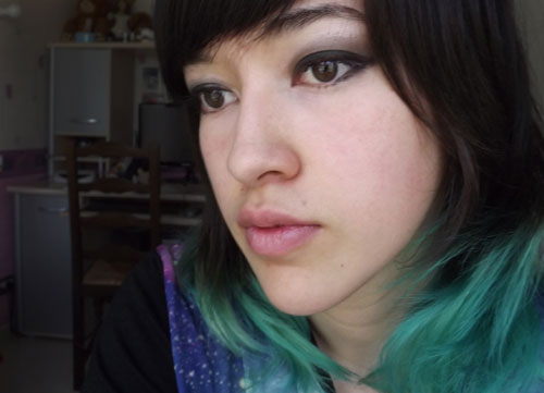cheveux turquoise Sarah Ombre