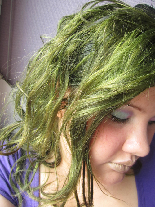 coloration cheveux vert clairs zoh