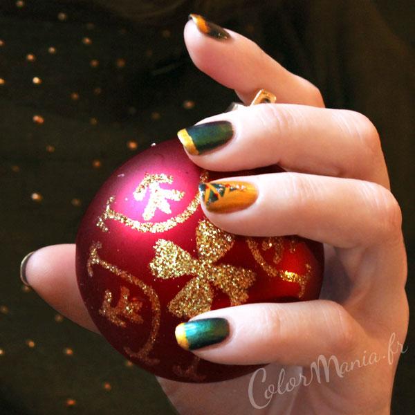 árboles de navidad-uñas-arte-fir-dore-verde-colores-mania