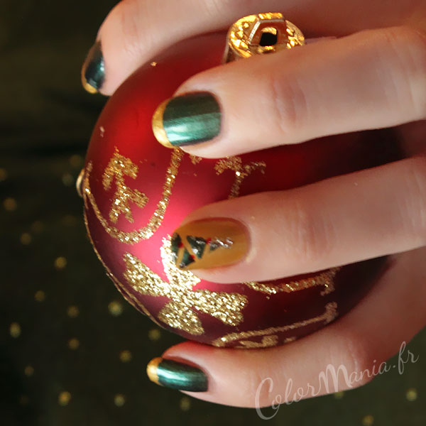 árboles de navidad-uñas-arte-fir-dore-verde-color mania2