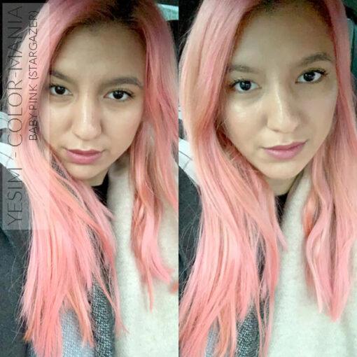 Merci Yesim :) Coloration Cheveux Rose Baby – Stargazer | Color-Mania