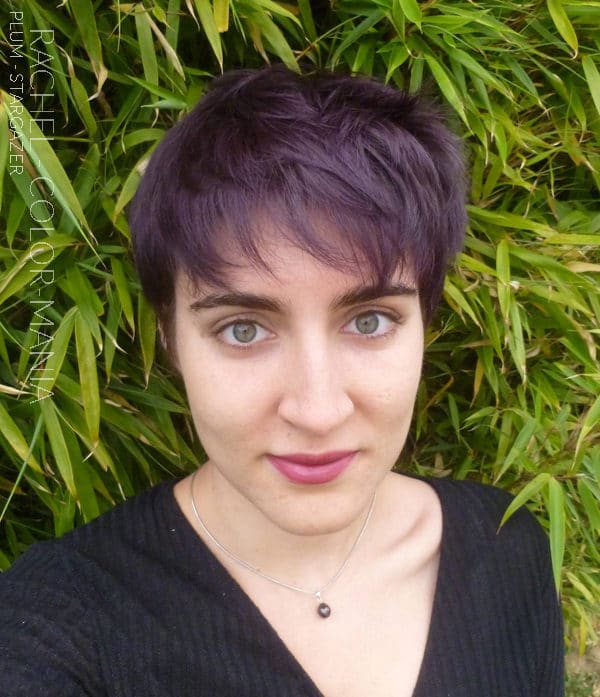 Púrpura - Gracias Rachel :) Color de pelo Purple Plum - Stargazer en cabello castaño