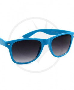Lunettes type Wayfarer Unies Bleu Cyan | Color-Mania