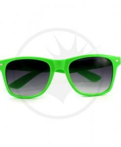 Lunettes type Wayfarer Unies Vert Vif | Color-Mania