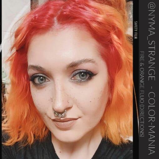 """Merci @nyma_strange :) Coloration Cheveux Rouge """"Fire"""" – Directions 