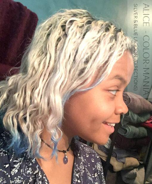 Merci Alice :) Coloration Cheveux Bleu Lagon – Directions | Color-Mania