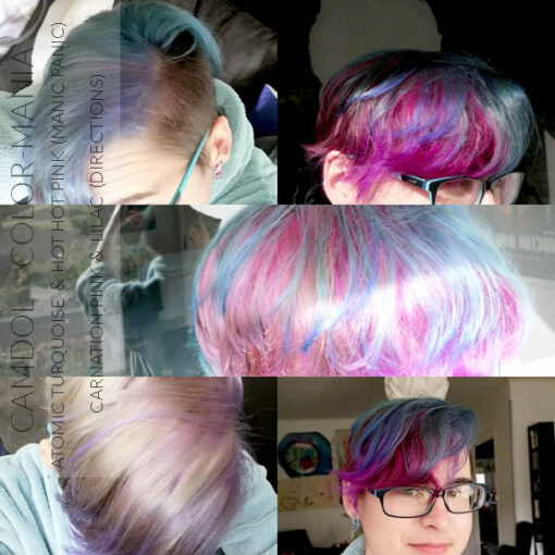 Merci Camdol :) Coloration Cheveux Rose Hot Hot Pink UV - Manic Panic - Etapes | Color-Mania
