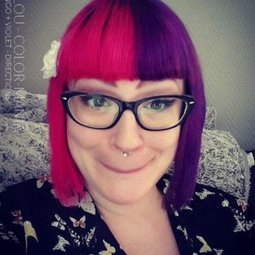 Merci Lalou ! :) - Coloration cheveux Flamingo et Violet - La Riché Directions - Color-Mania