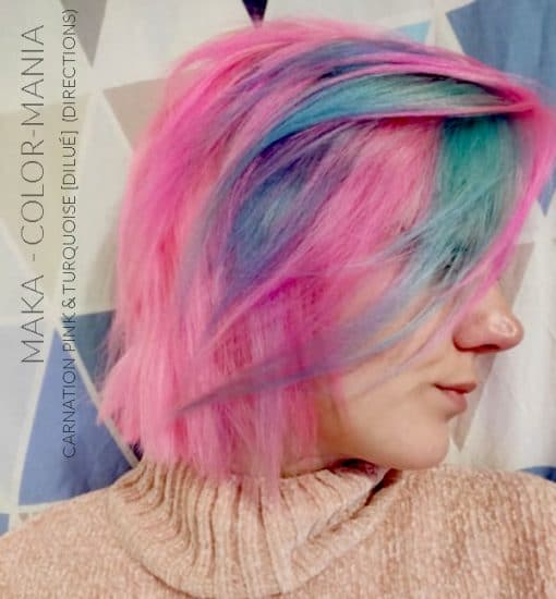 Merci Maka :) Coloration Cheveux Turquoise - Directions | Color-Mania