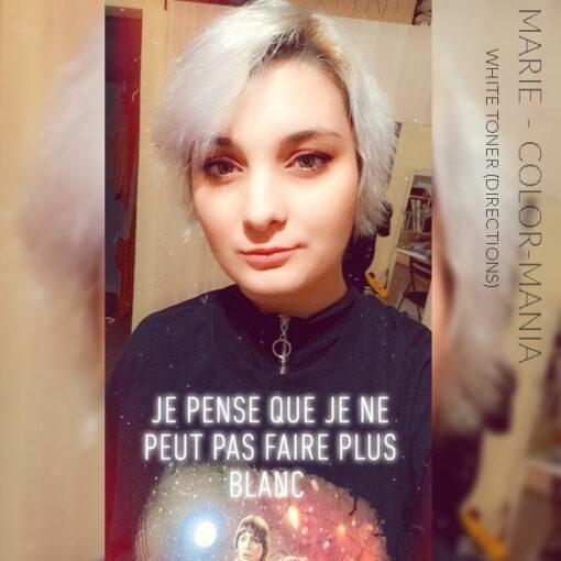 Merci Marie :) Coloration Cheveux Toner Blanc - Directions | Color-Mania