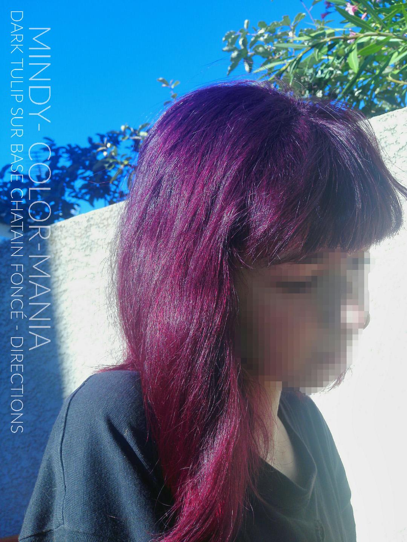 Merci Mindy ! :) - Coloration Cheveux Tulipe Noire ( Dark Tulip ) sur base châtain foncé - La Riché Directions - Color-Mania