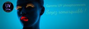Maquillaje Polaco de uñas Color de pelo Fosforescente Luz negra
