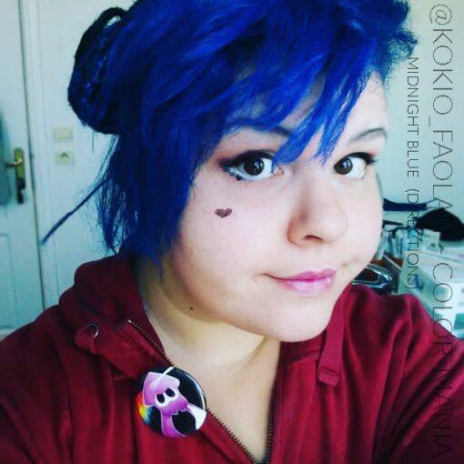 Merci @Kokio_faolan :) Coloration Cheveux Bleu Minuit - Directions | Color-Mania