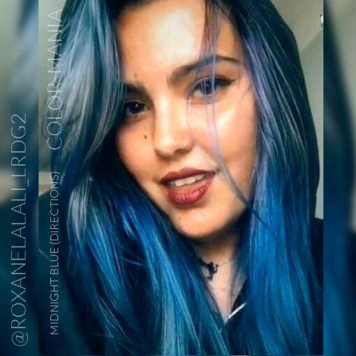 Merci Roxane :) Coloration Cheveux Bleu Minuit - Directions | Color-Mania