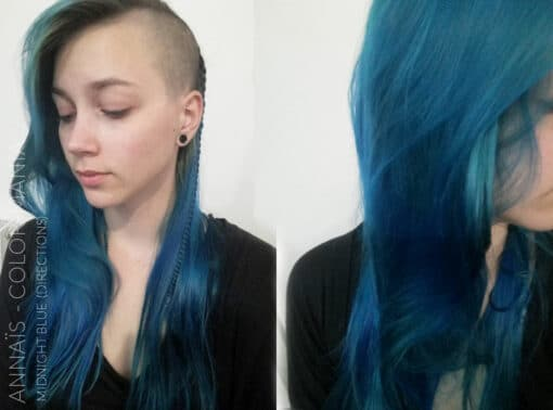 Gracias Annaïs :) Blue Midnight Hair Coloring - Directions | Color-Mania
