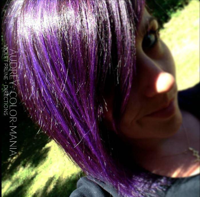 Merci Audrey ! - Coloration Cheveux Violet Prune (Plum) - La Riché Directions - Color-Mania