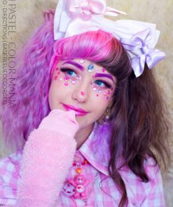 Danke BlushPastel! :) - Flamingo Hair Coloring - Richtungen (auf blauem Grund disgorged)
