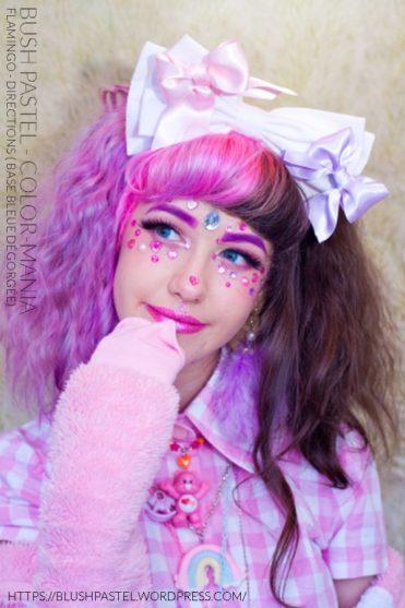 Merci BlushPastel! :) - Coloration Cheveux Flamingo - Directions (sur base bleue dégorgée)