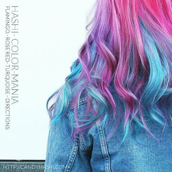 Gracias Hashi! :) - Hair Color Turquoise, Rose Red and Flamingo - Indicaciones