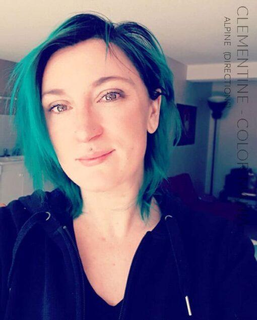 Merci Clémentine :) Coloration Cheveux Vert Alpin - Directions | Color-Mania