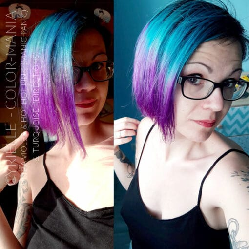 Merci Cyrielle :) Coloration Cheveux Ultra Violet - Manic Panic | Color-Mania