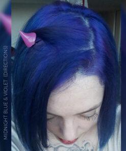 Merci Momoia :) Coloration Cheveux Bleu Minuit - Directions | Color-Mania