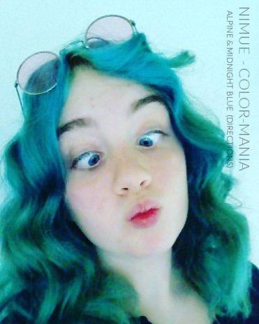 Merci Nimue :) Coloration Cheveux Bleu Minuit - Directions | Color-Mania