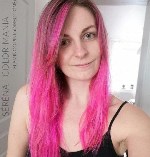 Merci Séréna :) Coloration Cheveux Flamant Rose - Directions   Color-Mania
