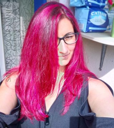Merci Sandra :) Coloration Cheveux Rouge Rose - Directions | Color-Mania