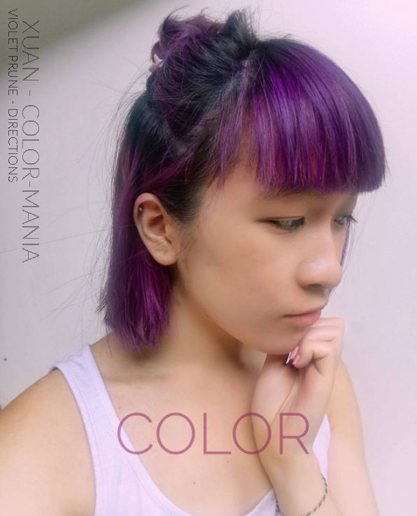 Merci Xuan ! :) - Coloration Cheveux Violet Prune (Plum) - La Riché Directions - Color-Mania