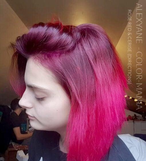 Merci Alexyane :) Coloration Cheveux Rose Cerise - Directions | Color-Mania