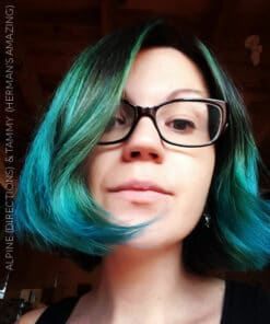 Gracias Cyrielle :) Tammy Turquoise Blue-Green Hair Coloring - Herman's Amazing | Color-Mania