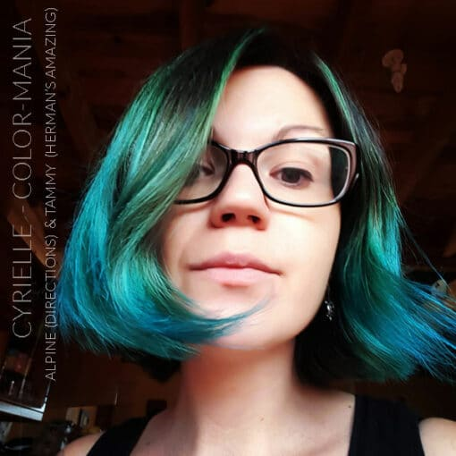 Merci Cyrielle :) Coloration Cheveux Bleu-Vert Tammy Turquoise - Herman's Amazing | Color-Mania
