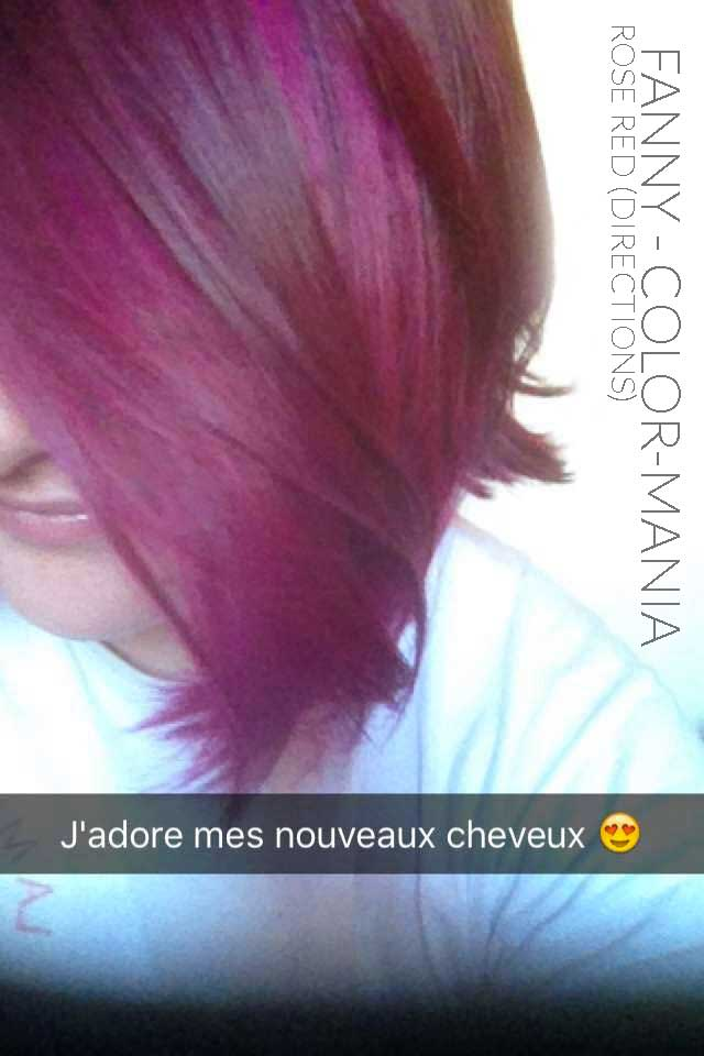 fanny coloration cheveux rouge rose directions - Coloration Cheveux Rouge Framboise