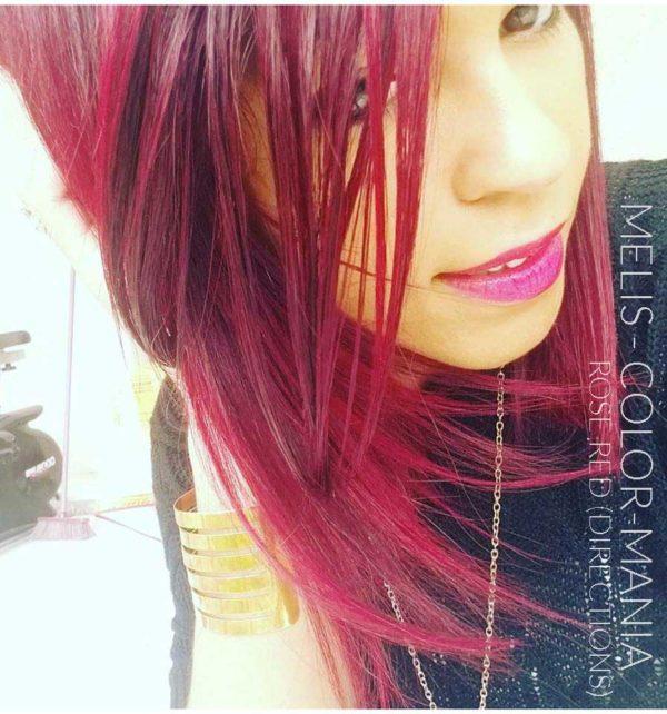 Mélis - Coloration Cheveux Rouge Rose - Directions
