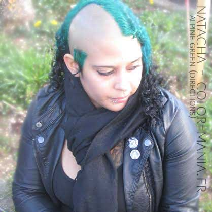 Merci Natacha ! Coloration Cheveux Vert Alpin - Directions
