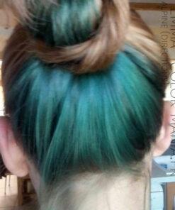 Merci Emma ! Coloration Cheveux Vert Alpin - Directions sur base châtain clair