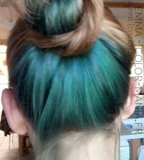Gracias Emma! Color de pelo verde alpino - Direcciones en base marrón claro
