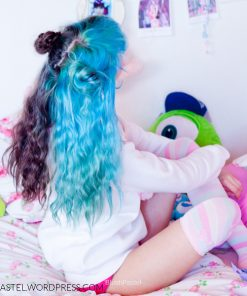 Merci BlushPastel! :) - Coloration Cheveux Bleu lagon - Directions (sur Vert Alpin - Directions dégorgé)