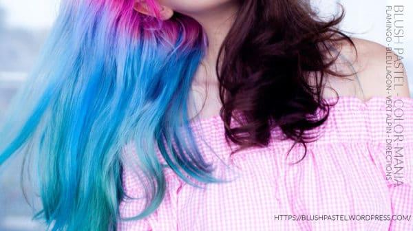 Merci BlushPastel! :) - Coloration Cheveux Bleu lagon - Directions