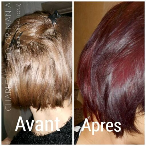 "Merci Charlene :) Coloration Cheveux Rouge ""Rubine"" - Directions 