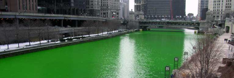 Rivière Chicago - Color-Mania - Vert - Domaine Public