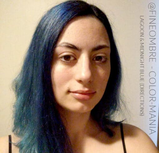 Merci @fineombre :) Coloration Cheveux Bleu Minuit - Directions | Color-Mania