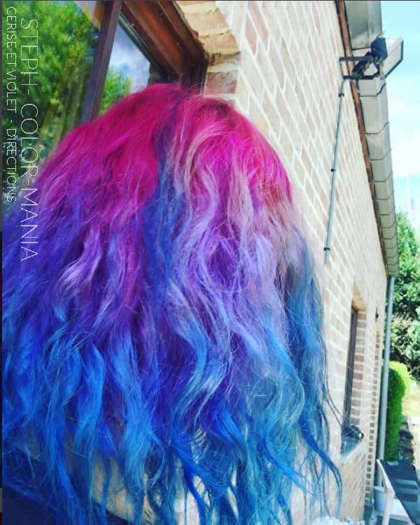 Merci Steph ! :) - Coloration Cheveux Violet et Rose Cerise - La Riché Directions - Color-Mania