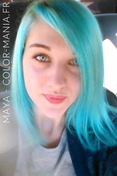 Bleu Lagon dilué dans une version Ice Queen par Maya - Color-Mania