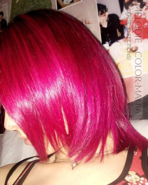 Merci Melodie :) Coloration Cheveux Rose Cerise - Directions | Color-Mania