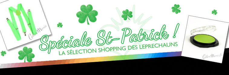 shopping color mania vert spécial st patrick